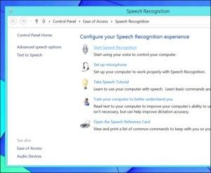 Windows 8 Speech