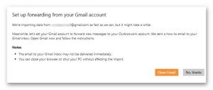 switching gmail to outlook 6